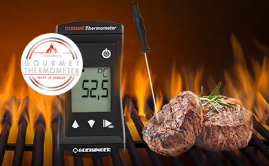 Roast thermometer - Determination of the core temperature in seconds.