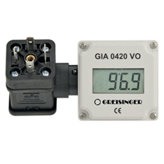 Plug-in display for rectangular connectors EN 175301-803 - GIA0420-VO-EX